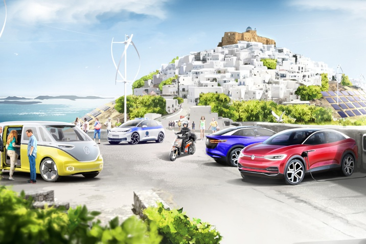 A Volkswagen-csoport és Görögország minta szigetet hoz létre