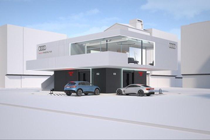 Gyorstöltő-koncepciót tesztel az Audi