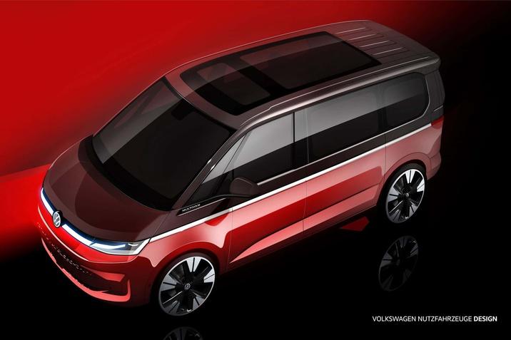 Megkezdődött a visszaszámlálás a világpremierig: a Volkswagen Haszonjárművek bemutatja az új Multivan vázlatait